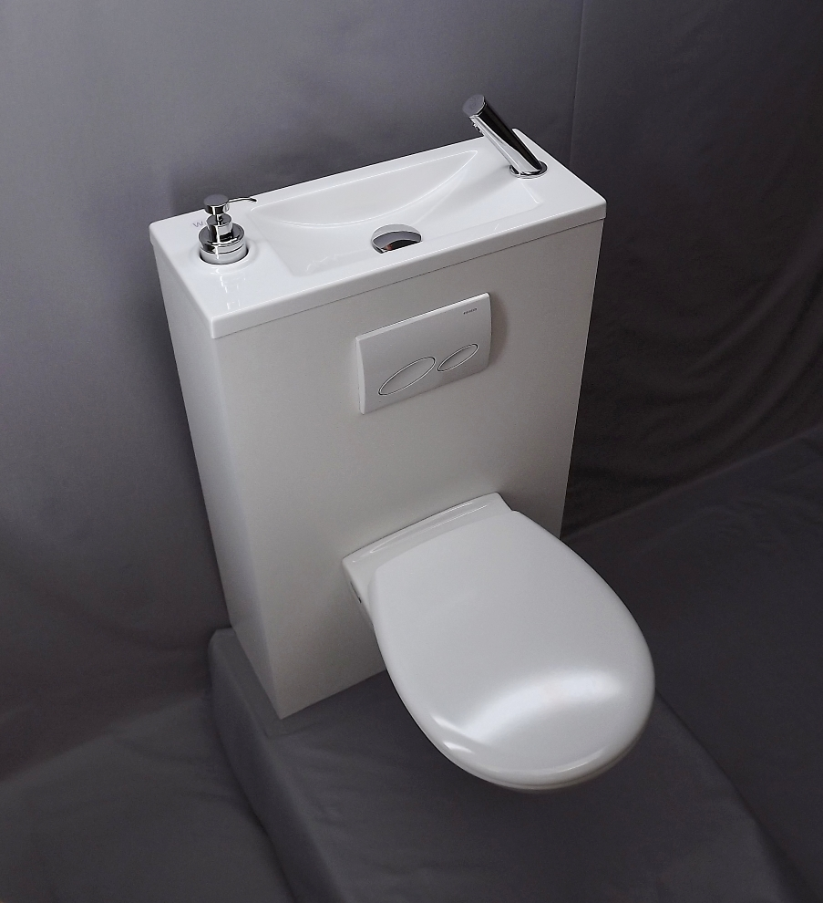 Combiner lave mains et wc c 39 est possible - Amenagement wc avec lave mains ...