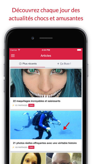 Application mobile de Buzty.fr