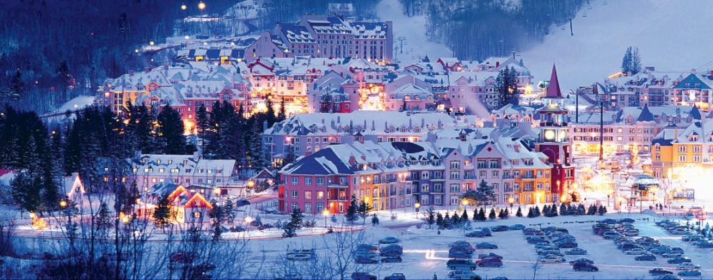 Ville de mont Tremblant  en hiver