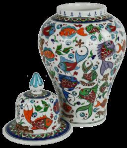 Céramique d'Iznik de décoration orientale, jarre Balik par KaravaneSerail