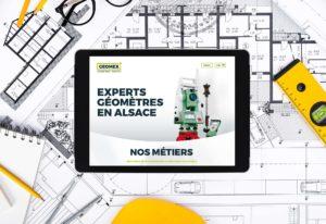 Les géomètres-experts GEOMEX et Guillaume Kling ont fait le choix de l'agence Mars Rouge pour la création du site internet et son référencement.