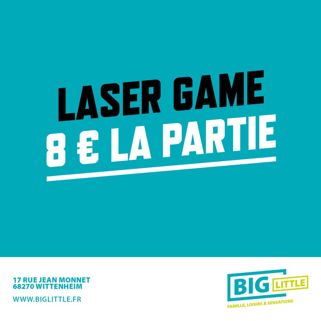 Big Little, le plus grand parc de loisirs indoor du Haut-Rhin. Trampoline, escape game, laser game, kids parc et bien plus sur 3500 m² à Wittenheim.